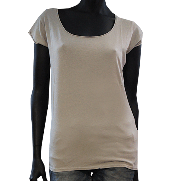 d6cac699805 T-Shirt Sound gris clair – Femme - Nice T-Shirt